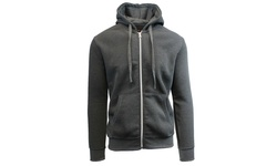 Galaxy by Harvic Men's Fleece Zip-Up Hoodie - Charcoal - Size: Small
