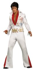 Elvis Super Deluxe Grand Heritage Costume, White, X-Large