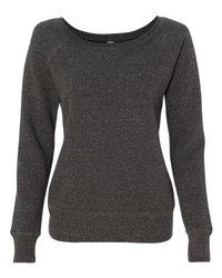 Bella 7501 Women's Sponge Fleece Wide Neck Sweatshirt - Charcoal-Black Triblend, Extra Large