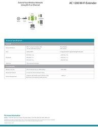 """D-Link  DAP-1620 AC1200 Wi-Fi Range Extender, 3.8""""H x 2.5""""W x 2.25""""D"""