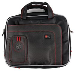 """DURAGADGET  9""""  DVD Player Case - Black and Red"""