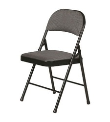 Plastic Dev Fabric Padded Folding Chair - Grey
