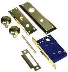 Guard Security Lock Mortise Screw on Brass