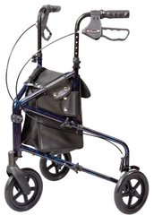 Carex Health 3 Wheel Trio Roller Walker - Black