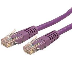 StarTech 15ft Cat 6 Purple Molded RJ45 UTP Gigabit Cat6 Patch Cable