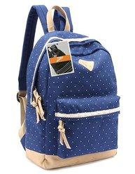 Leaper Lightweight Backpack Cute School Bag - Dark Blue - Size: M