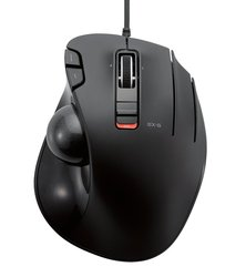 ELECOM Mouse Wired Trackball grip 6 button - Black