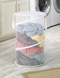 "Whitmor 15"" Collapsible Laundry Hamper - White"
