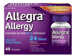 Allegra 24 Hour Allergy Relief 45 Tablets - 180mg