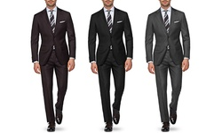 Classic Fit 100% Wool Suits: Grey - 42sx36w