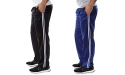 Vertical Sports Men's 2-Pack Track Pants - Black/Royal - Size: 2XL