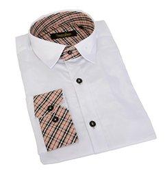 Long Sleeve Plaid Trim Shirt