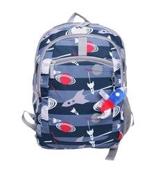"Cricket 16.5"" Boy's Rocket Spaceship Backpack - Blue/Grey"