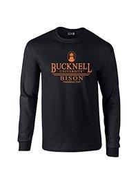 SDI NCAA Bucknell Bison Classic Seal Long Sleeve T-Shirt - Black - Size: S