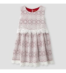 Toddler Girls' A Line Dress - Almond Cream - Size: 6X