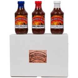 BBQ BROS RUBS Sweet/Smokey/Spicy Style Barbecue Sauce Set - 18.5 oz.