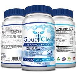 GoutClear Maximum Strength Dietary Supplements - 60 Caps. ea - 2-Pack