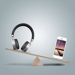 Meidong Aluminum Wireless On-Ear Headphones with Mic (Meidong-E6)