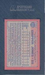 Topps 1991 #333 CHIPPER JONES Rookie Gem Graded Card