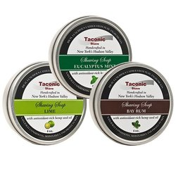 Taconic Shave 4oz Bay Rum/ Eucalyptus Mint & Lime Barbershop Shaving Soap