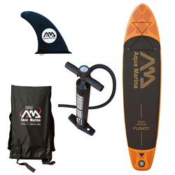 Aqua Marina Fusion Stand Up Paddle Board - Black