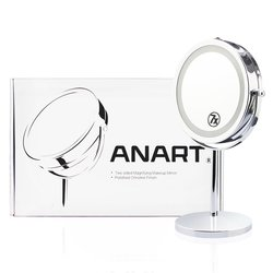ANART 7 inches LED Lighted Tabletop Vanity Mirror - 1x-7x