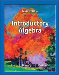 Introductory Algebra 10th Edition Paperback Pearson - 2012