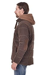 Top-EC Men's Detachable Hood Thickened Down Coat - Coffee - Size: Large