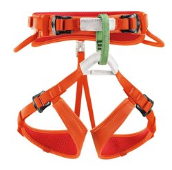 Petzl Macchu Double Back Buckles Children's Harness - Coral