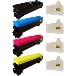 Do it Wiser Black/Cyan/Magenta/Yellow Toner Cartridges for Kyocera FSC5200