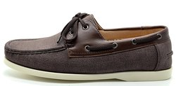 Bruno Marc Men's Leather Lace Up Classic Casual Loafers - Brown - Sz: 13