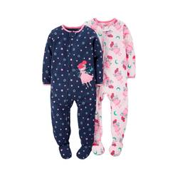Just One You Made by Carter's Baby Girls' 1Pc Fleece Pajamas - 2Pack - 18M