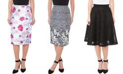 Yal New York Women's Dressy Skirts - Pink - Size: 12
