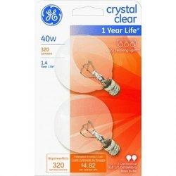 GE Lighting CLR Globe Bulb (GE2PK40W)