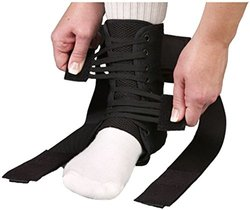 MedSpec ASO EVO Speed Lacer Ankle Brace Stabilizer - Black - Size: Medium