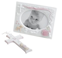 Russ Baby Baby's Baptism Gift Set Frame and Cross