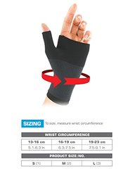 Neo G Unisex Airflow Wrist & Thumb Support - Black - Size: Small