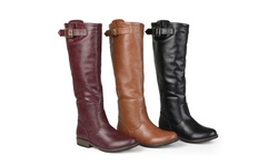 Journee Collection Women's Wide-Calf Riding Boots - Red  10WC