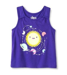 Circo Baby Girls' Solar System Graphic Tank Top - Purple - Size: 3T