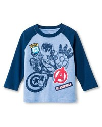 Marvel Avengers Toddler Baby Boy Long Sleeve T-Shirt - Blue - Size: 18M
