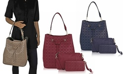 Mkf Collection Women's Kate 3-in-1 Handbag - Blue - Size: Medium