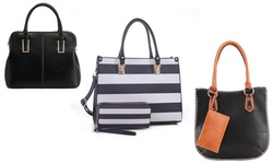 MKF Women's Canvas Crossbody bag Everyday Use - Black(Satchel)