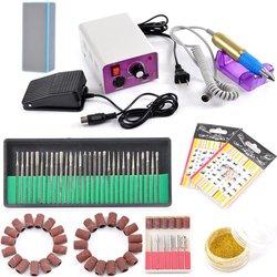 Complete Electric Nail Drill Machine Manicure Pedicure Kit -H1