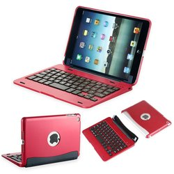 iEGrow Bluetooth Keyboard Protective Clamshell Case Cover iPad Mini - Red
