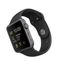 Apple Watch Aluminum Case with Black Sport Band - Space Gray - 42MM