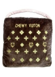 Dog Diggin Design Chewy Vuiton Purse Novelty Plush Pet Bed