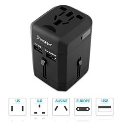 Insten Universal All in One Travel Power Plug Wall AC Adapter Charger