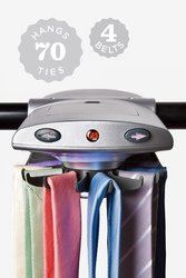 Necktie Accessories Motorized Tie Rack with Dual LED Lights