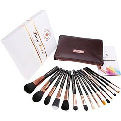SignatureQuality 15Pcs Makeup Brush Set Kit - Rose Golden