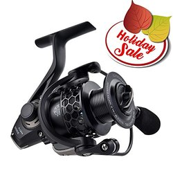 KastKing Mela Spinning Reel - Light, Smooth, Powerful and Comes with a FREE Spare Spool - 2016 Newly Released Spinning Fishing Reel Gives You Years of Fishing Fun (Black, Mela3000)